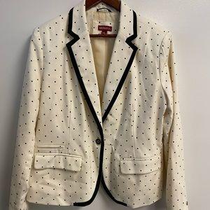 Merona blazer with polka dots